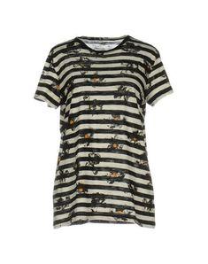 Proenza Schouler Ikat Stripe Print T-shirt In Ivory Japanese Cotton, Proenza Schouler, Stripe Print, World Of Fashion, Beachwear, Midi Skirt, Short Sleeves, Clothes For Women, Coat