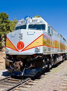 Grand Canyon Railway Locomotive Canvas Print / Canvas Art by Adam Pender Train Car, Train Rides, Train Travel, Grand Canyon Railway, California Zephyr, Choo Choo Train, Train Pictures, Thomas The Tank, New Mexico