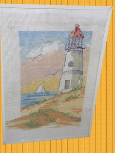 l'angolo di Daggry: cross stitch lighthouse marine