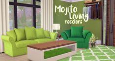 Hamburgercakes: Mojito Living Recolors • Sims 4 Downloads