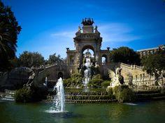 Fountain in Parque Ciutadella