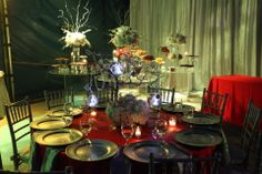 Centerpieces & table setting