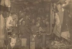 German soldiers passing the time living in an underground bunker in France, c. 1916. - Imgur