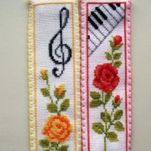 Cross Stitch Borders Vervaco Cross stitch bookmarks-roses and music. Small Cross Stitch, Cross Stitch Books, Cross Stitch Bookmarks, Cross Stitch Rose, Cross Stitch Borders, Cross Stitch Flowers, Cross Stitch Charts, Cross Stitch Designs, Cross Stitching
