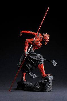 """A KOTOBUKIYA Japanese import! The scale Star Wars ARTFX series is back with the Sith master of the double-bladed lightsaber, DARTH MAUL. Inspired by Katsushika Hokusai's traditional Japanese ukiyo-e (""""pictures of the floating world"""") style, Darth Sith Tattoo, Darth Maul Lightsaber, Kotobukiya Star Wars, Figuras Star Wars, Katsushika Hokusai, Mode Shop, Star Wars Darth, Star Trek, Star Wars Collection"""