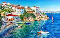 Белые домики Греции, автор Чуприна Ирина. Артклуб Gallerix