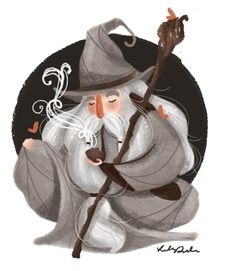 Gandalf by Lindsay Dale-Scott. Gandalf, Hobbit Art, O Hobbit, Fanart, Jrr Tolkien, Monster, Middle Earth, Lord Of The Rings, Narnia