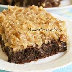 Over The Top German Chocolate Brownies | NancyCreative