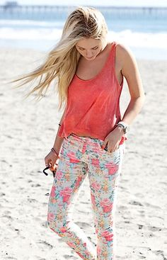 love floral print pants