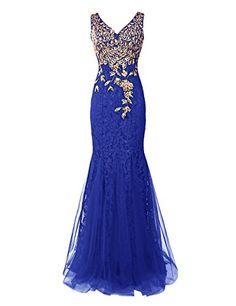 Dresstells® Long Lace Mermaid Prom Dress with Appliques Wedding Dress Evening Party Wear Dresstells http://www.amazon.co.uk/dp/B00XBHFDK6/ref=cm_sw_r_pi_dp_Ug8zvb1RA98DA