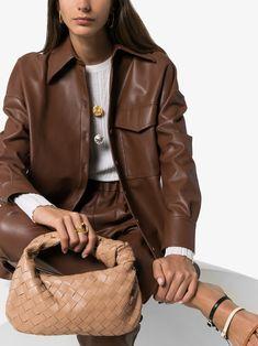 Bottega Veneta nude jodie knotted intrecciato leather bag | Browns