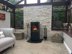 My log burner Log Burner Fireplace, Wood Burner, Conservatory Ideas, Woodburning, Landing, Home Remodeling, Living Room Designs, Stove, Snug