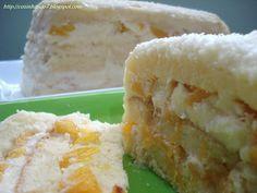 Cozinhando o 7: Bolo Pavê de Pêssego e Côco