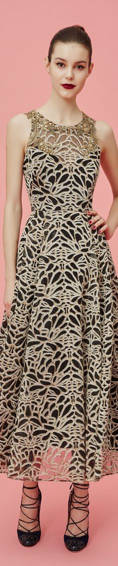 Marchesa Notte Pre Fall 2016 women fashion outfit clothing style apparel @roressclothes closet ideas