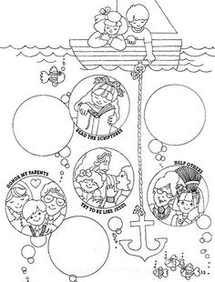 1000 images about lds children 39 s coloring pages on for Keep the commandments coloring page