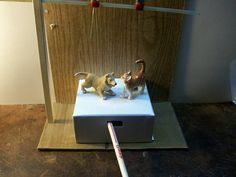 [ diy] toy Dog and Cat Dancer in Instructables .com dated 2-10-12 by Mistic .Hours of fun using the magic wand.