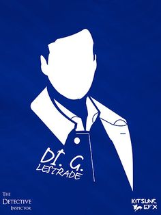"""DI G. Lestrade: The Detective Inspector"" Art Print by user 'KitsuneDesigns' on RedBubble.Com ... #Sherlock #BBC"