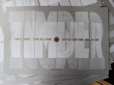 Timber Timbre letterpress poster