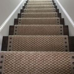 Stylish stair carpet ideas and inspiration. So you can choose the best carpet for stairs.Quality rug for stairs, stairway carpets type, etc. Redo Stairs, Staircase Makeover, Basement Stairs, Stair Redo, Diy Stair, Rustic Basement, Attic Stairs, Stairway Carpet, Foyer Decorating