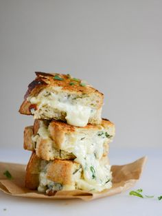 Genius: Take the ingredients needed for white pizza and pack them all into a grilled cheese sandwich.
