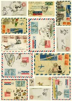 hand drawn illustrations on mail :)