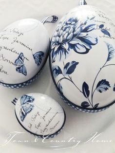 Blue and White ~ Decorated Eggs