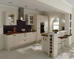 A Porter Beige High Gloss Kitchen Design Idea http://www.diy-kitchens.com/kitchens/porter-beige/details/