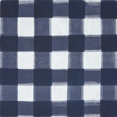"""A classic check re-invented in shades of navy. Colors - NavyHorizontal Repeat - 23"""" Vertical Repeat - 22 3/4"""" Fabric Width - 59"""" Fabric Content - 100% cotton ca"""