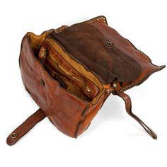 bassi distressed leather clutch