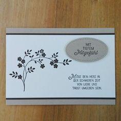 Trauerkarte in den Farben Savanne, Espresso und Vanillepur  Welche der drei Karten ist Euer Favorit?  #stampinup #trauerkarte #wodiehoffnungblüht #blühendeworte #stickmuster #kartenwelt_mit_stampin_up