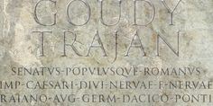 Trajan Pro is based on the drawings by F.W. Goudy of his rendition of the capital letters inscribed on the Trajan column in Rome, rather than on his subsequent metal type, Trajan (Title), released in 1930. Goudy Trajan Pro includes almost 1500 glyphs in each of three weights, including: uppercase, alternates, swash caps, small caps, vertically centered small(er) caps, dozens of fleurons, and much more. Supports Latin, Cyrillic and modern Greek scripts.