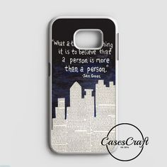 John Green Paper Towns Quotes Cover Samsung Galaxy S7 Edge Case | casescraft