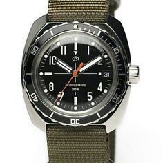 Vostok Amphibia mod in a olive green NATO strap. Cool Watches, Watches For Men, Vostok Watch, Nato Strap, Watch 2, Tic Tac, Time Capsule, Dress Code, Seiko