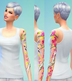 Seventhecho: Female Tattoos • Sims 4 Downloads