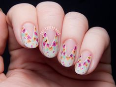 TUTORIAL: Easy Splattered Floral Nail Art, Inspired by Nail'd It!