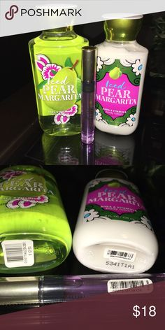 Bath & Body Works and VS Bundle Iced Pear Margarita shower gel and body lotion, both new, never used, bundle with other items to get additional discount Bath & Body Works & Victoria Secret Other