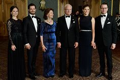 On Friday 16 September, The King and Queen hosted a Sweden Dinner at the Royal Palace of Stockholm. The aim of the Sweden Dinner is to recognise people who have made significant local, regional or national contributions. From R: Princess Sofia, Prince Carl Philip, Queen Silvia, King Carl XVI Gustaf, Crown Princess Victoria and Prince Daniel.