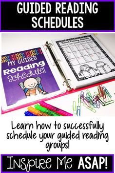 Starting Guided Reading – Inspire Me ASAP - Kunstunterricht Guided Reading Lessons, Guided Reading Groups, Reading Comprehension Activities, Literacy Activities, Teaching Resources, Teaching Ideas, Kindergarten Blogs, Kindergarten Reading, Guided Reading Organization