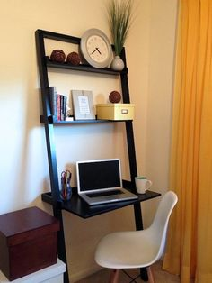 small work space in a bedroom