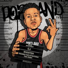 "Michael Farhat on Instagram: ""Playoff Custody ❗️WANTED❗️ C onsistent J umpshot Mccollum  Shooter 🎯 #ArtMobb @trailblazers @3jmccollum"""