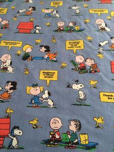 d8e84ee055861 Vintage Snoopy Peanuts Twin Flat Sheet Blue Happiness Is Tastemaker  Woodstock Blue Flats