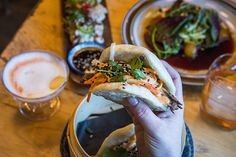 Pinkerton's is bustling when I pop in on a recent Friday night. The music, a soundtrack of alt-rock (including the odd Weezer track, obviously) is l. Steamed Buns, Snack Bar, Bao, Fresh Rolls, Toronto, Good Things, Snacks, Weezer, Atypical