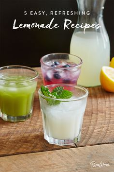 5 Incredibly Refreshing (and Easy) Lemonade Recipes via @PureWow via @PureWow