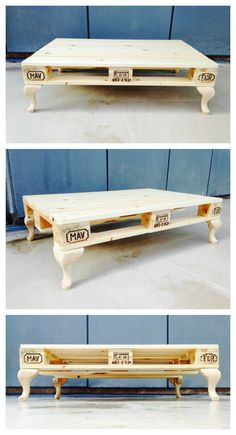 Coffee Table #CoffeeTable, #RecycledPallet