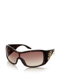 Blumarine Women's Wraparound Shield Sunglasses at MYHABIT