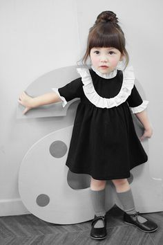 #kids #fashion #cute #cool #beautiful #look #children #style #stylish #girls #black #dress