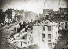 Jacques Louis Daguerre (Boulevard du Temple, Paris, 1838)