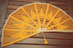 Abanico en crochet para decoracion