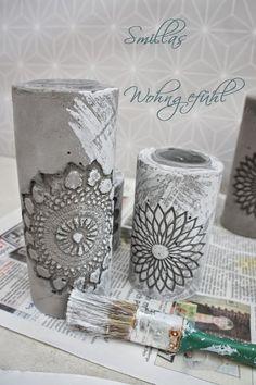 Smillas Wohngefühl: DIY: concrete candle holder / Kerzenständer aus Zement SUPER ANLEITUNG