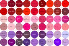 Colour Chart Moustache Manis Hair Color Names Red Colours